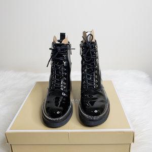 MICHAEL KORS patent leather TAVIE bootie